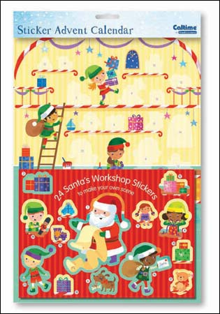 Advent Calendar - Santa's Workshop sticker scene