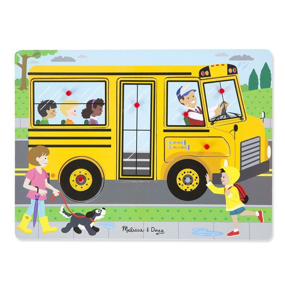 Melissa & Doug Sound Puzzle - Wheels on the Bus