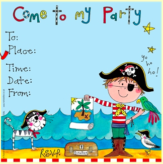Party Invitations - Pirate theme