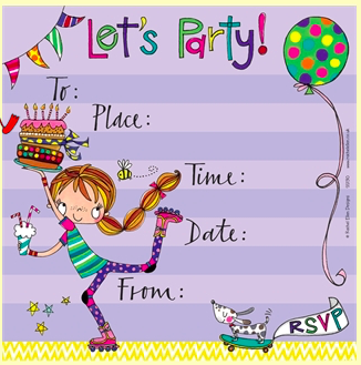 Party Invitations - Rollerblading Theme