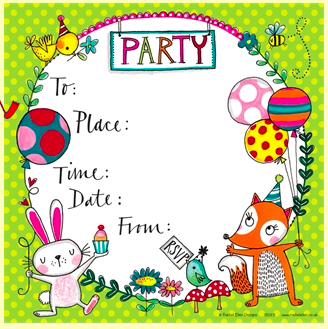Party Invitations - Woodland Theme