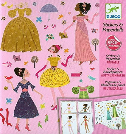 Djeco Dresses through the seasons - Reusable Stickers