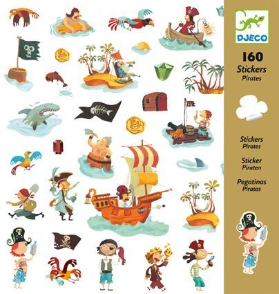 Djeco Pirates - Stickers