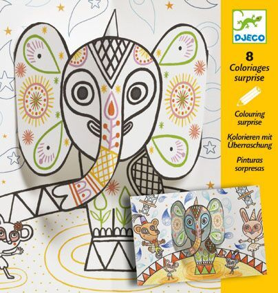 Djeco Pop and the Elephant - Colouring Surprise