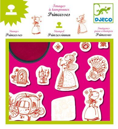 Djeco Princesses Stamps - Art Set