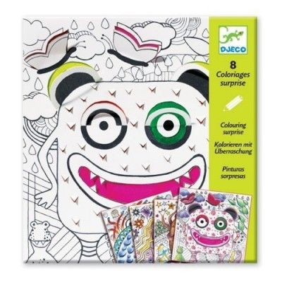 Djeco Windows on Monsters - Colouring Surprise