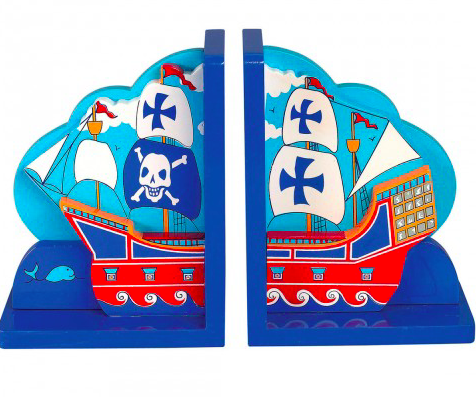 Lanka Kade Wooden Pirate Bookends